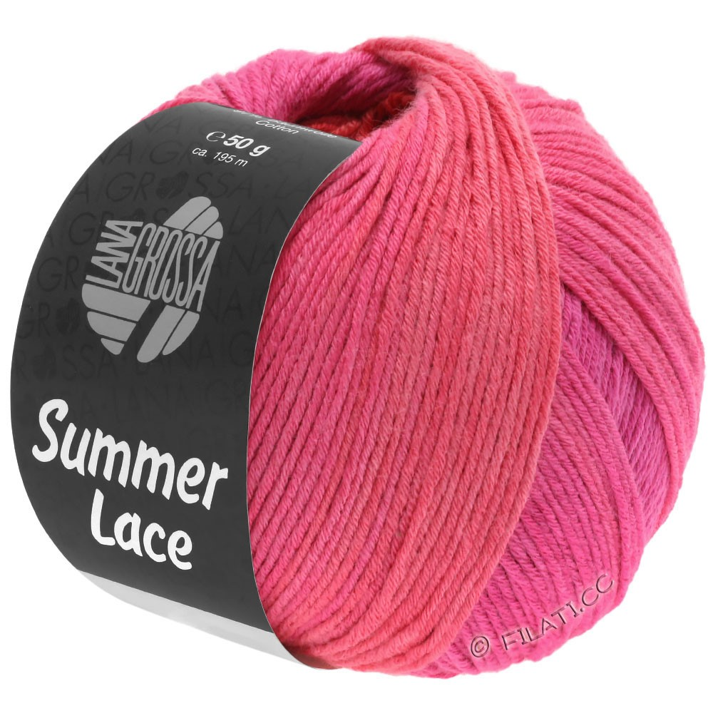 Lana Grossa SUMMER LACE DEGRADÉ | 111-Zyklam/Pink/Rot