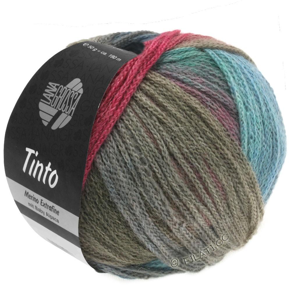 Lana Grossa TINTO | 01-Türkis/Beere/Grau/Khaki/Blau