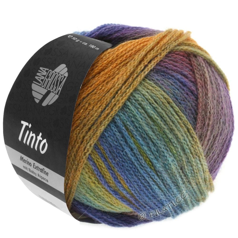 Lana Grossa TINTO | 02-Senfgelb/Türkis/Blauviolett/Rotviolett/Resedagrün/Blau
