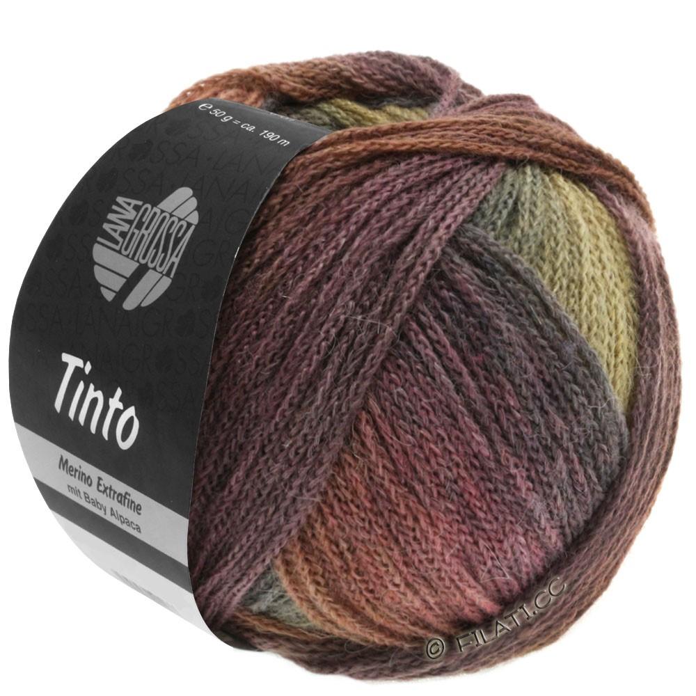 Lana Grossa TINTO | 08-Schokobraun/Nussbraun/Senf/Graugrün/Beere/Aubergine/Pflaume