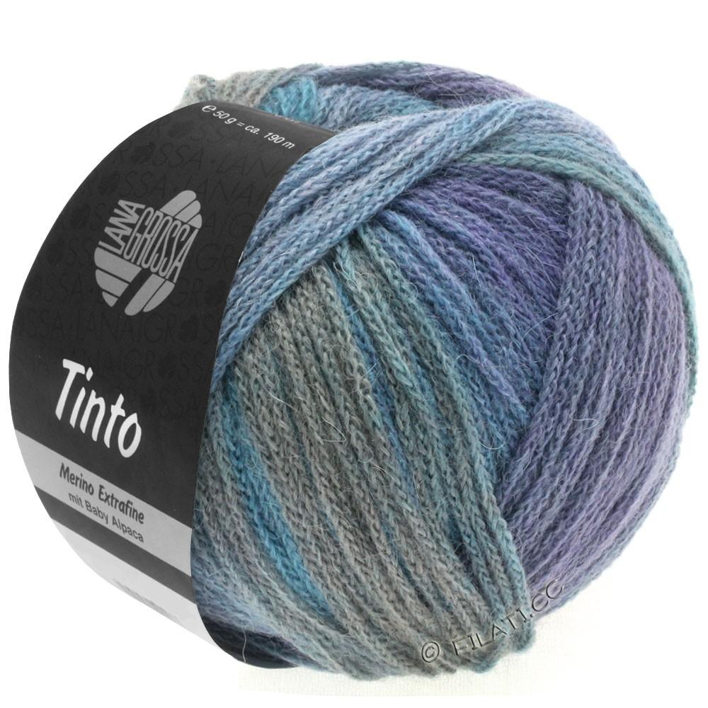 Lana Grossa TINTO | 10-Hellblau/Hellgrau/Blau/Lila/Rotbraun/Mint