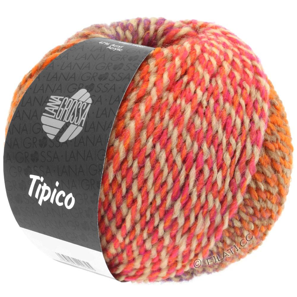 Lana Grossa TIPICO | 03-Orange/Camel/Rosa/Tomatenrot