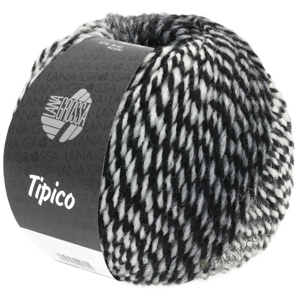 Lana Grossa TIPICO | 07-Weiß/Grau/Schwarz