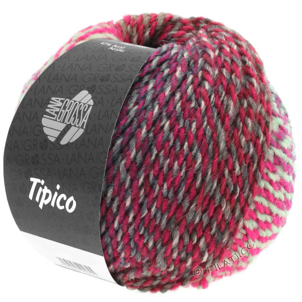 Lana Grossa TIPICO | 09-Hellgrau/Dunkelgrau/Pink
