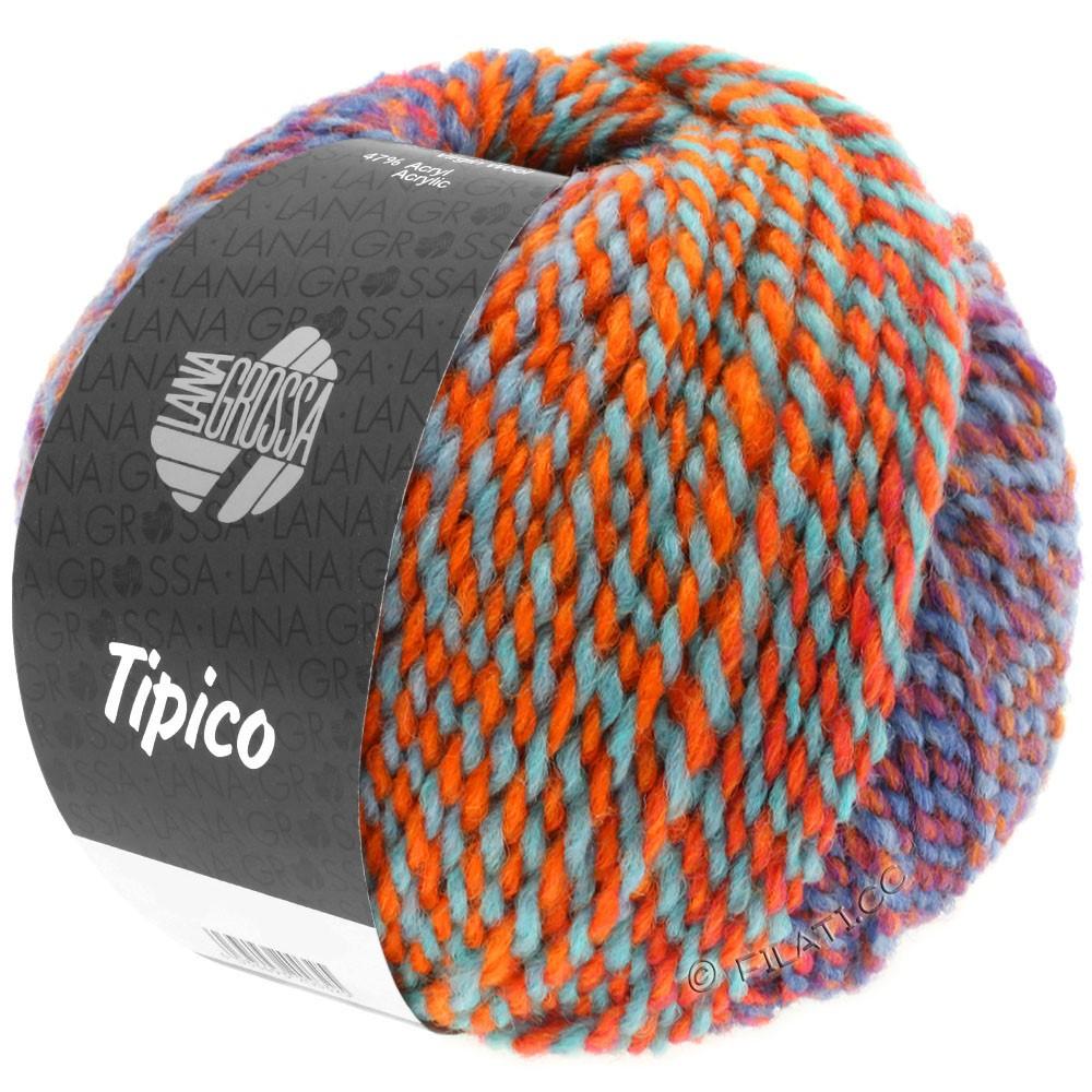 Lana Grossa TIPICO | 12-Blau/Rost/Türkis/Orange