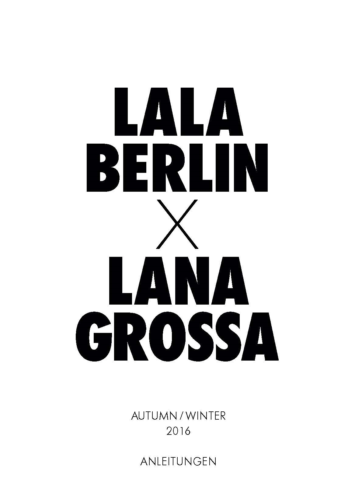 Lana Grossa LALA BERLIN Booklet