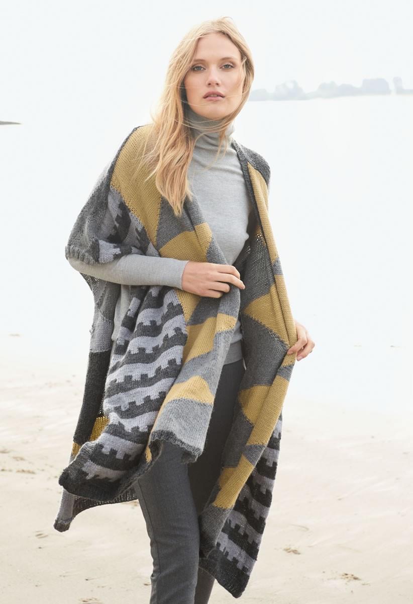Lana Grossa ETHNO-CHIC PONCHO Cool Wool Alpaca