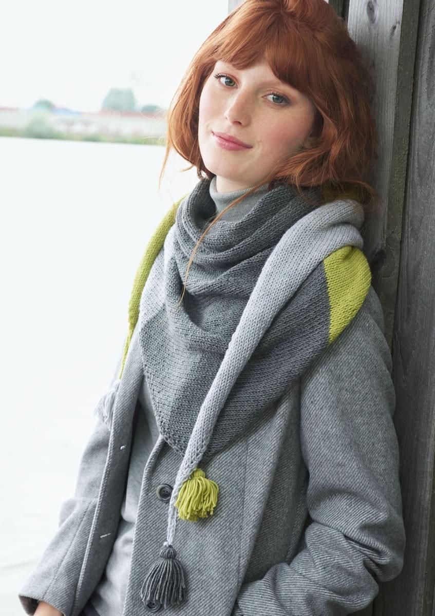 Lana Grossa COLOURBLOCKING-DREIECKSTUCH Cool Wool Big