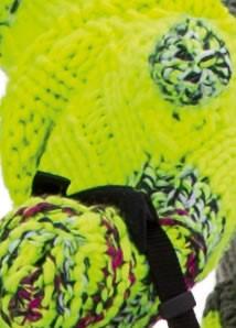 Lana Grossa STULPENHANDSCHUHE Mille II Neon/Mouliné