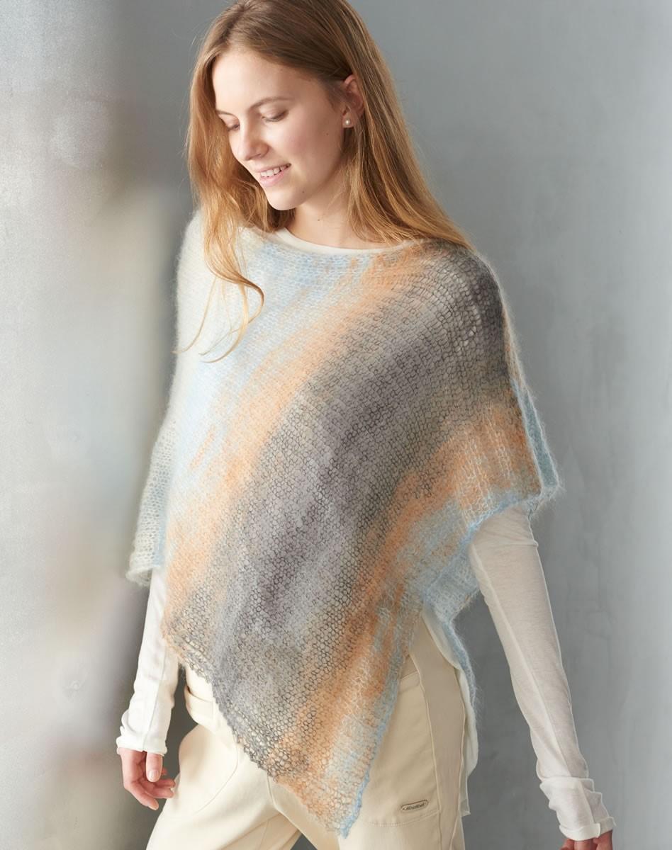 Lana Grossa PONCHO Silkhair Print
