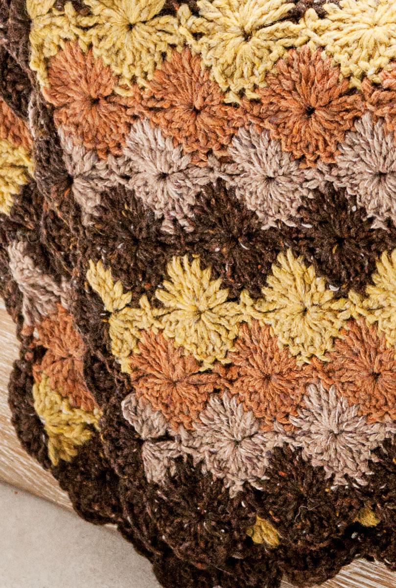 Lana Grossa Decke Im Muschelmuster Royal Tweed Filati Handstrick