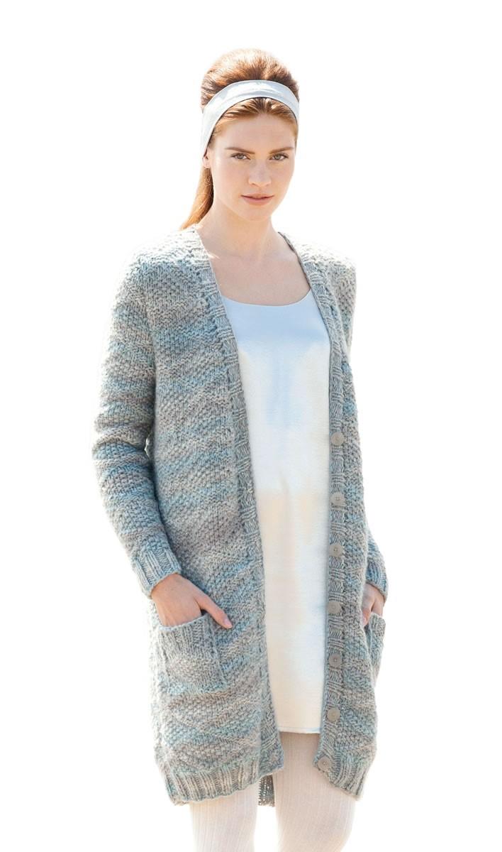 Lana Grossa KURZMANTEL Alta Moda Cashmere 16 Degradé/Silkhair Paillettes