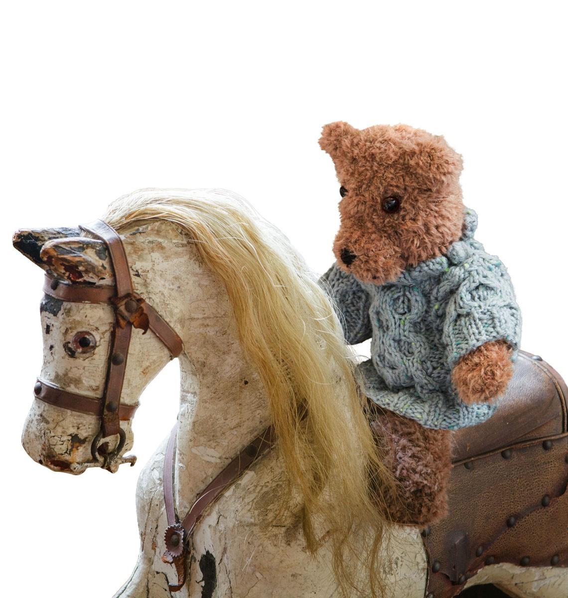 Lana Grossa TEDDY ZOPFPULLI Royal Tweed