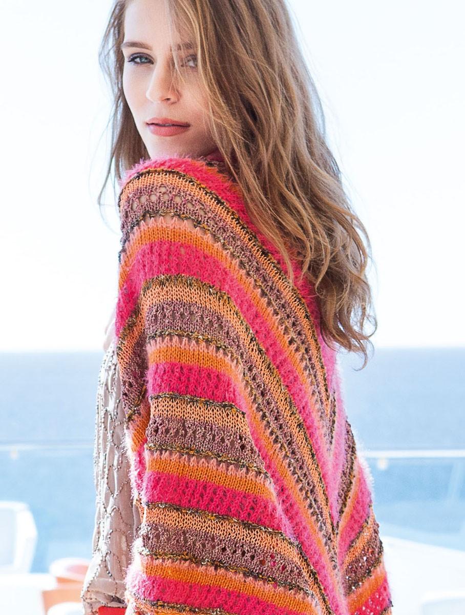 Lana Grossa DREIECKSTUCH IM MUSTERMIX Ecopuno/Silkhair/Coco/Secondo/Estivo II/Nizza