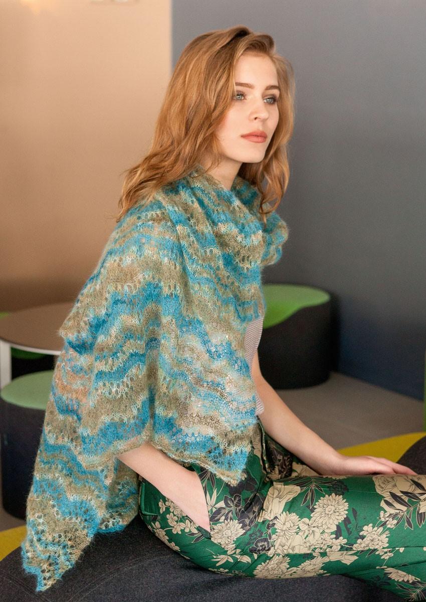Lana Grossa STOLA IM AJOURMUSTER Silkhair Design