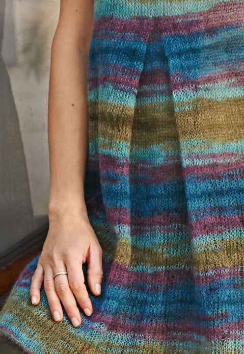 Lana Grossa MINIKLEID MIT FALTE GLATT RECHTS Silkhair print