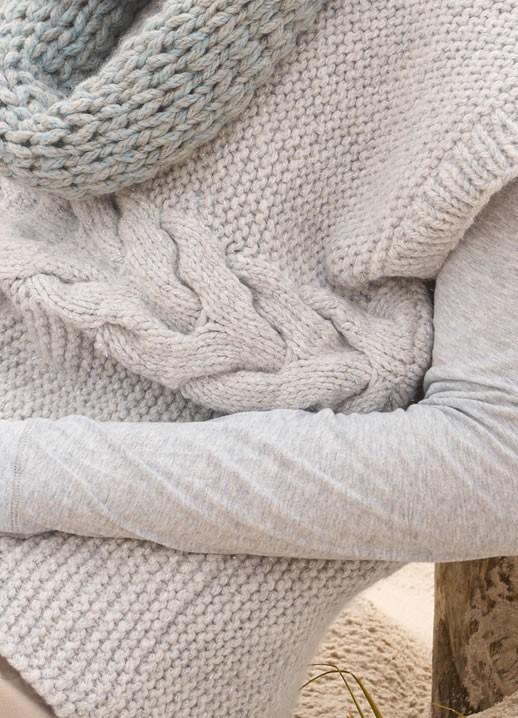 Lana Grossa KIMONOPULLI MIT ZOPFSTREIFEN Alta Moda Superbaby Stella