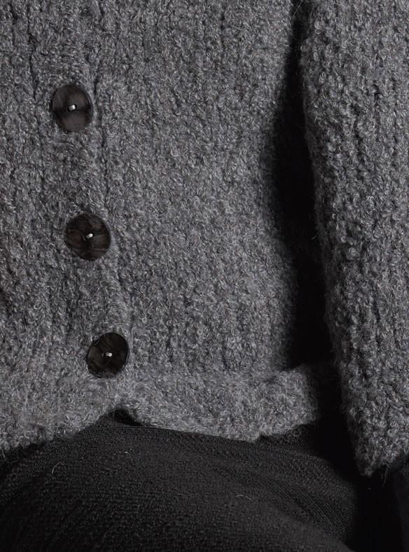 Lana Grossa JACKE GLATT RECHTS IN LEICHTER A-LINIE Bombolino Lux