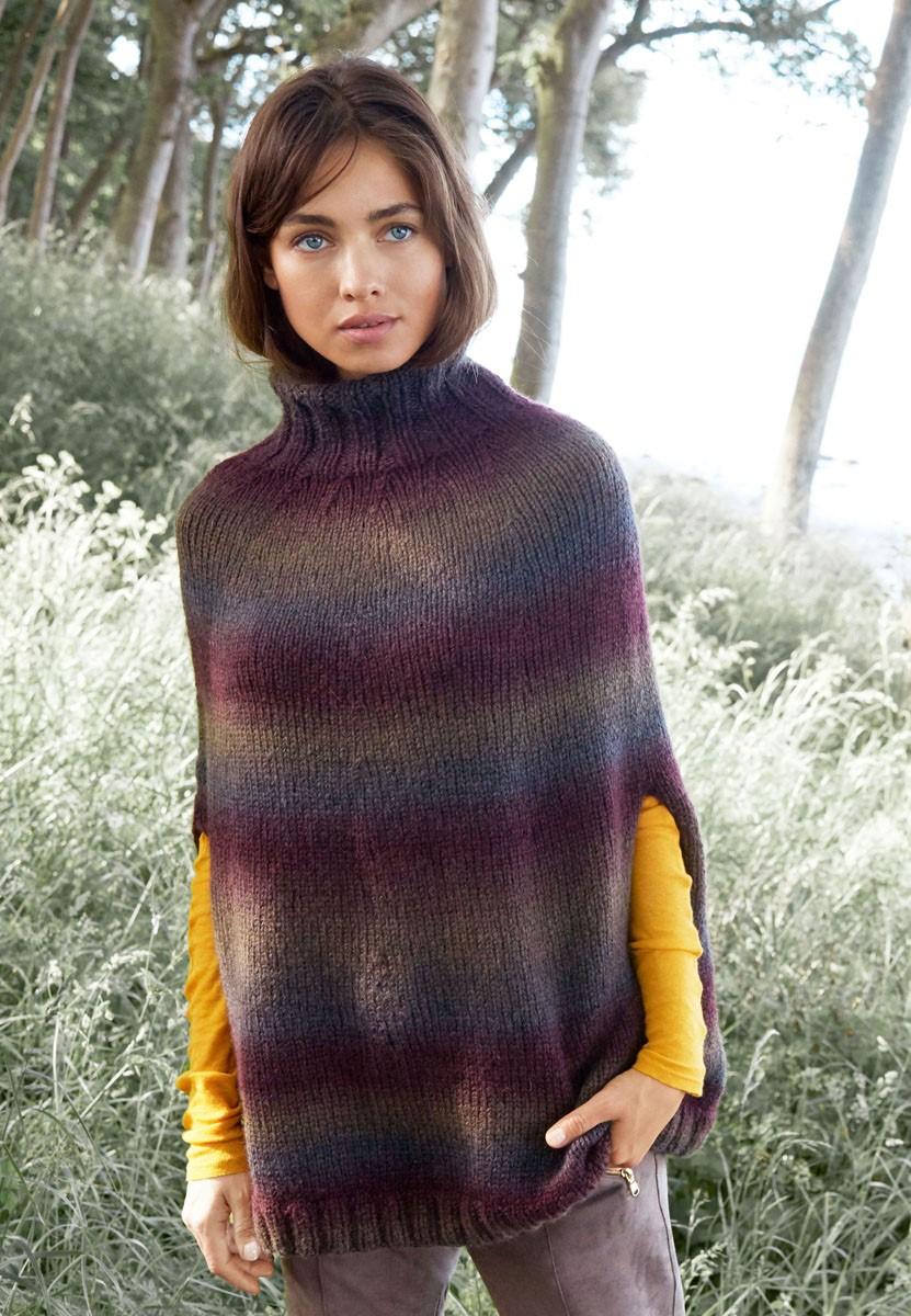 Lana Grossa PONCHO GLATT RECHTS Super Color