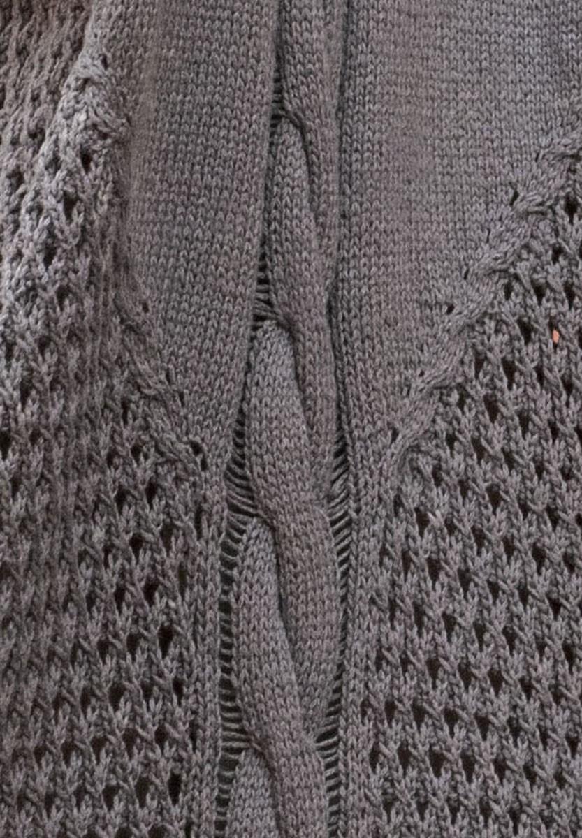 Lana Grossa MANTEL MIT ZOPF- UND GITTERMUSTER 365 Cashmere