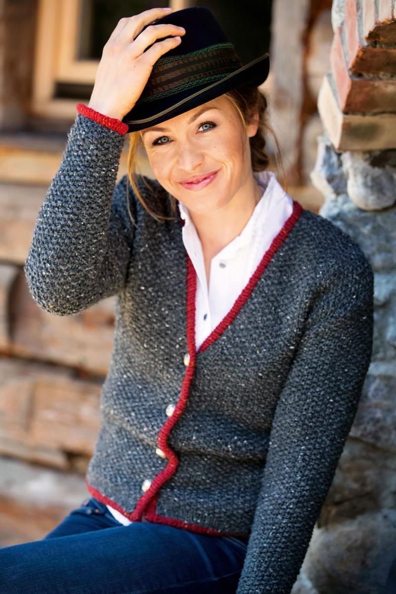 Lana Grossa DAMENJACKE IM PERLMUSTER Royal Tweed