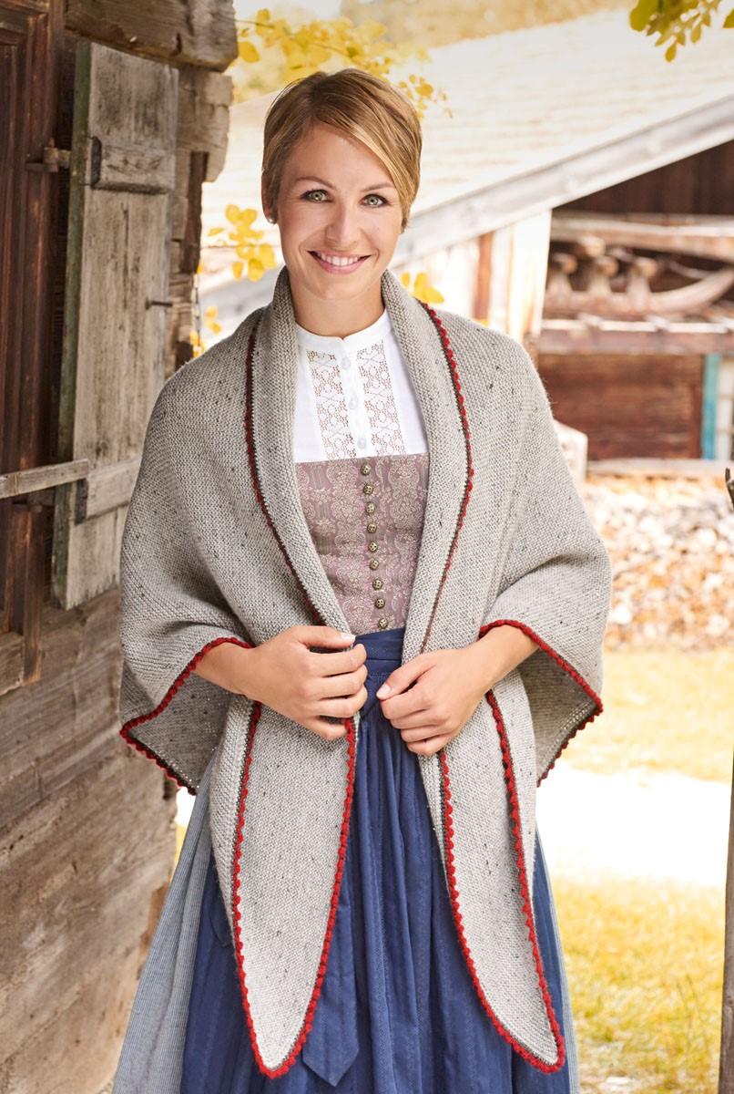 Lana Grossa DREIECKSTUCH KRAUS RECHTS MIT PICOTRÄNDERN Meilenweit 6-fach/Cool Wool Big