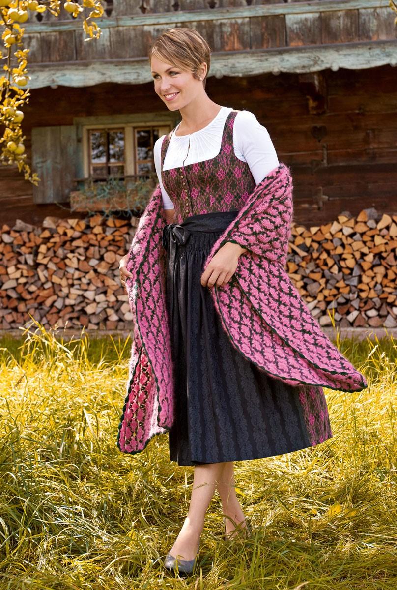 Lana Grossa HÄKELTUCH IM MUSCHELMUSTER Silkhair/Cashmere 16 Fine