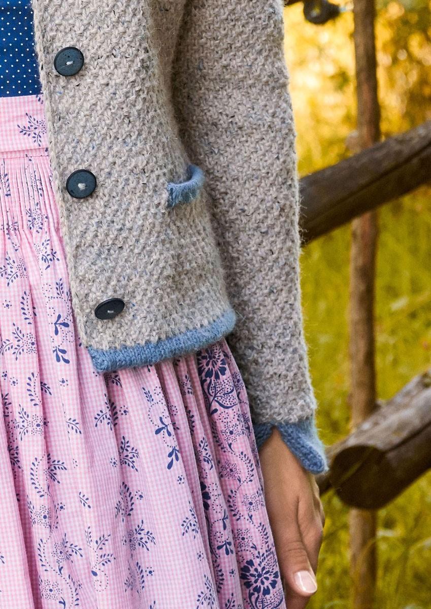 Lana Grossa DAMENJACKE MIT TASCHEN Ascot/Cool Wool Alpaca