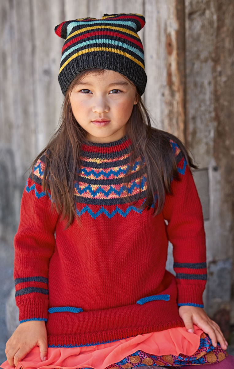 Lana Grossa PULLOVER Cool Wool/Cool Wool Print