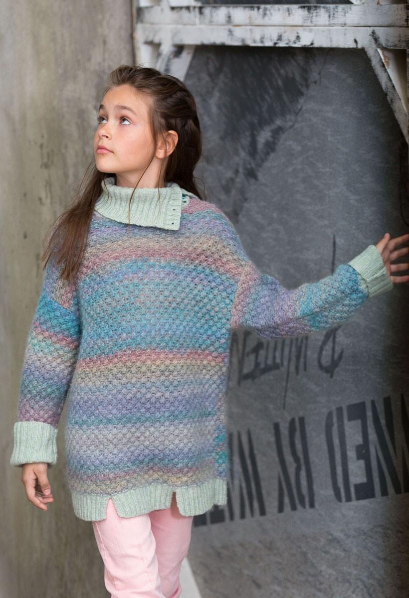Lana Grossa PULLOVER Cashmere 16 Fine Degradé/Cashmere 16 Fine/Silkhair Print