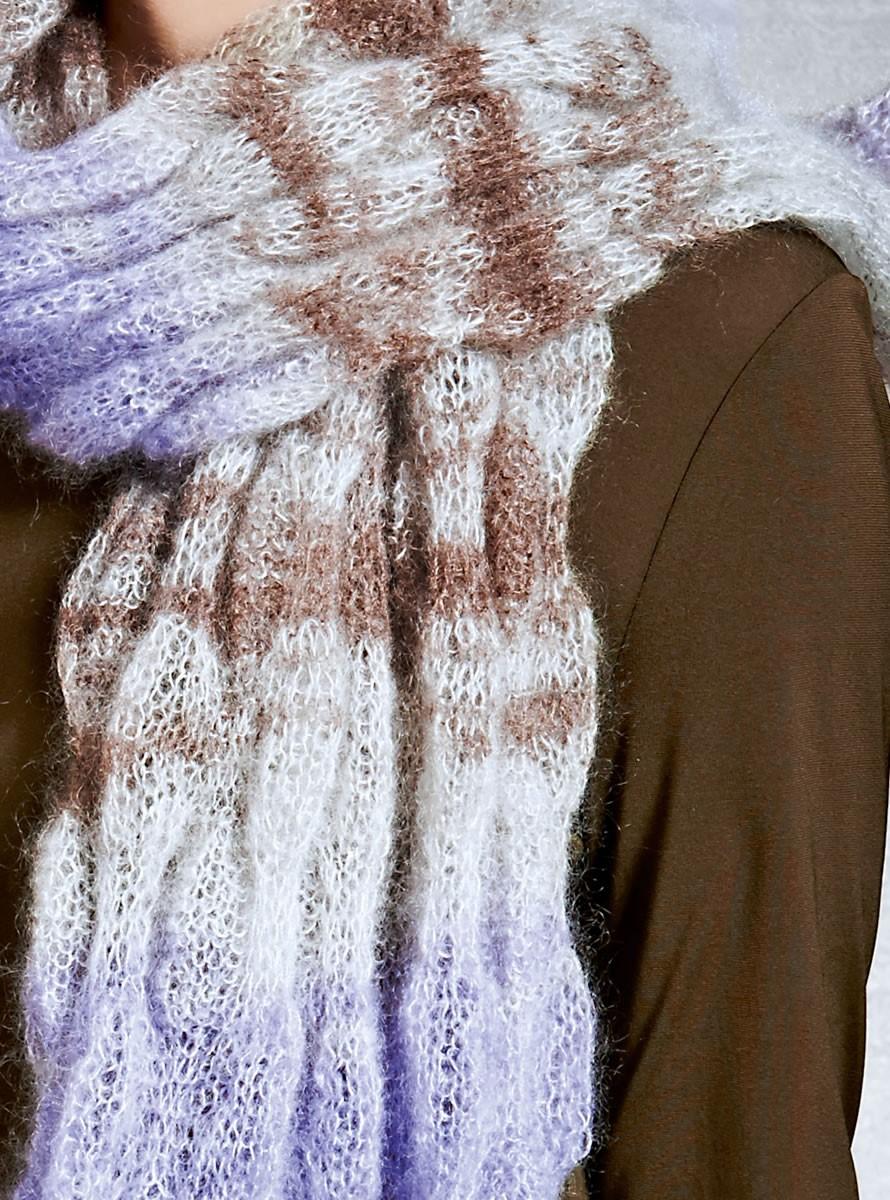 Lana Grossa Schal im plastischen Blasenmuster SILKHAIR print