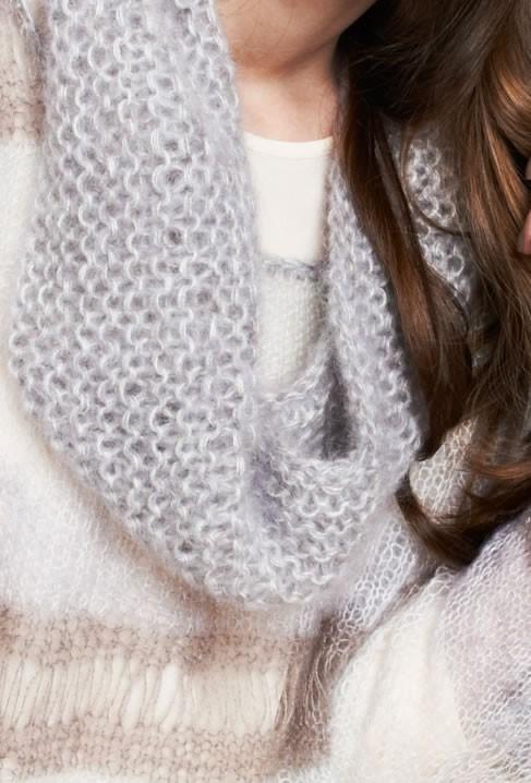 Lana Grossa LOOP KRAUS RECHTS Silkhair melange/uni