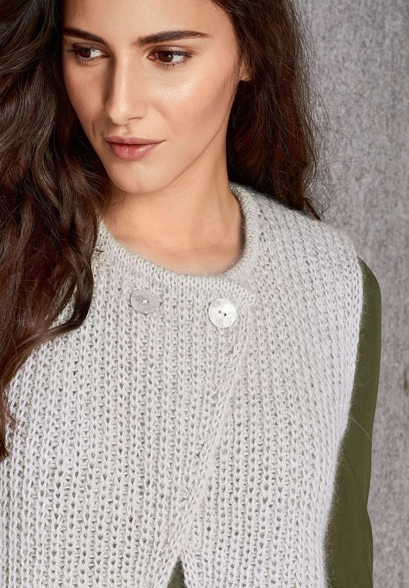Lana Grossa WESTE  Lace Seta/Silkhair Paillettes