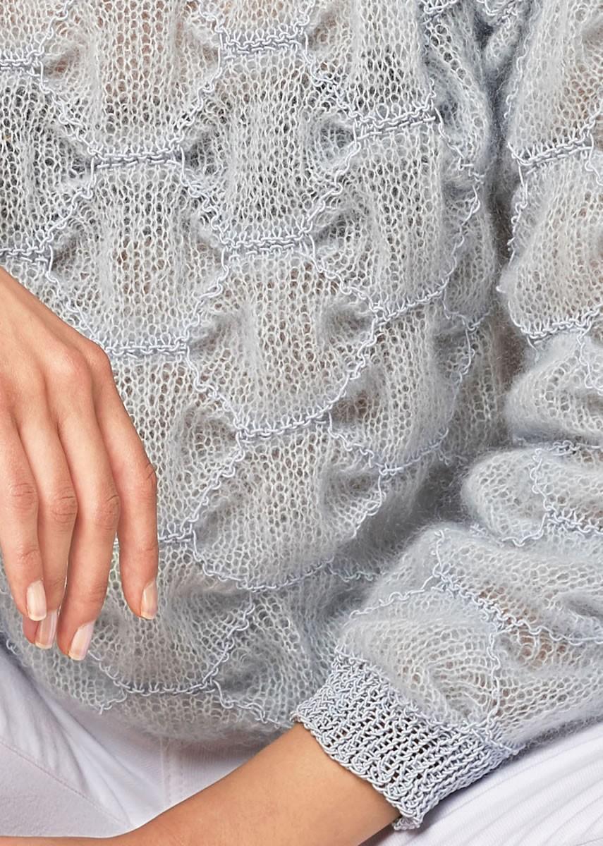 Lana Grossa PULLI IM CLOQUEMUSTER Silkhair/Secondo