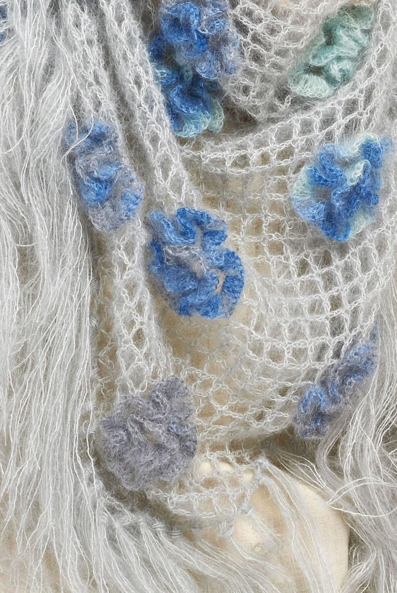 Lana Grossa DREIECKSTUCH MIT BLÜTEN Silkhair/Silkhair Print