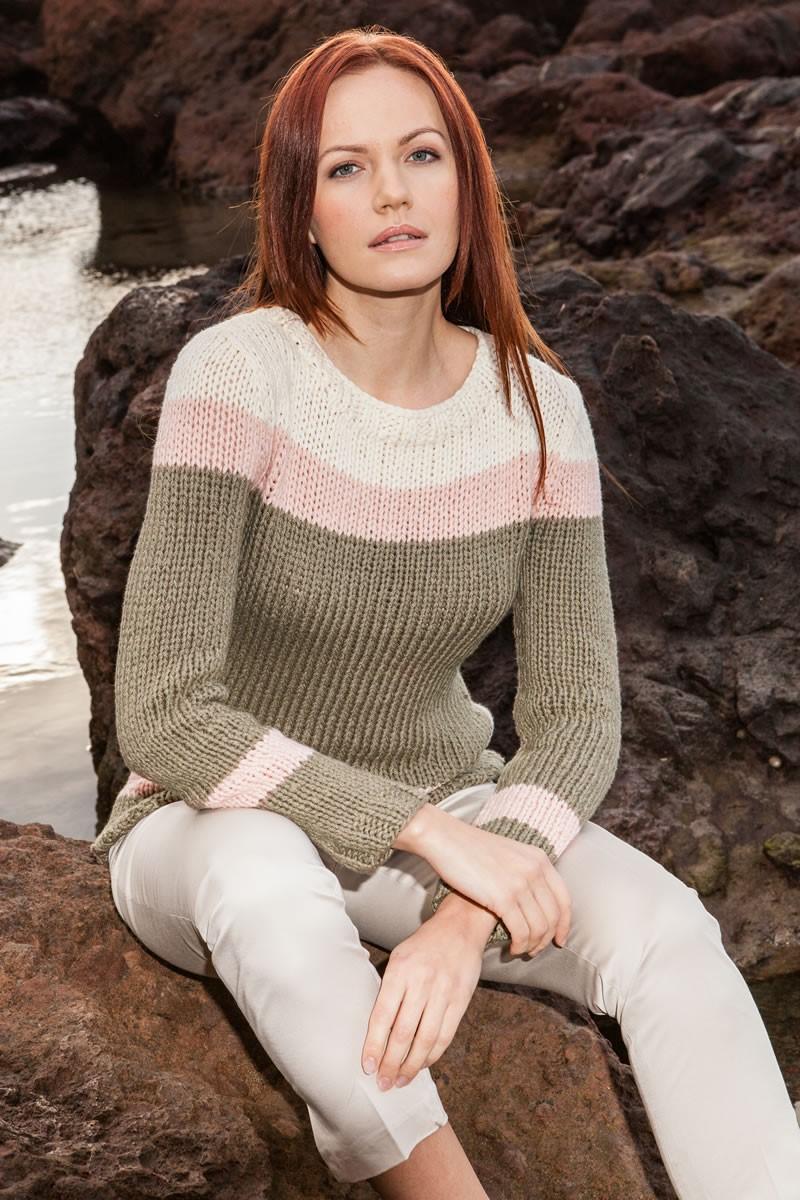 Lana Grossa TAILLIERTER PULLOVER 365 Cashmere
