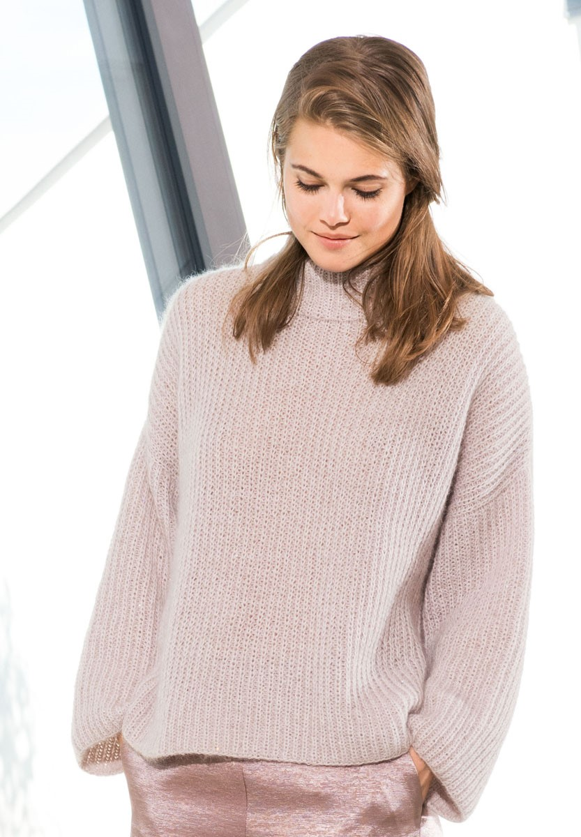 Lana Grossa PULLOVER Lace Merino/Silkhair Paillettes