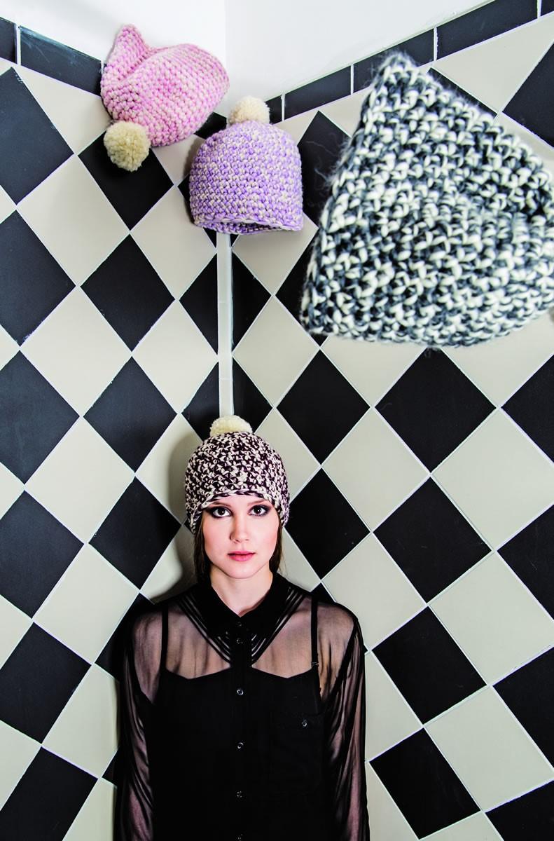 Lana Grossa HÄKELBEANIE Lei/Lei Mouliné