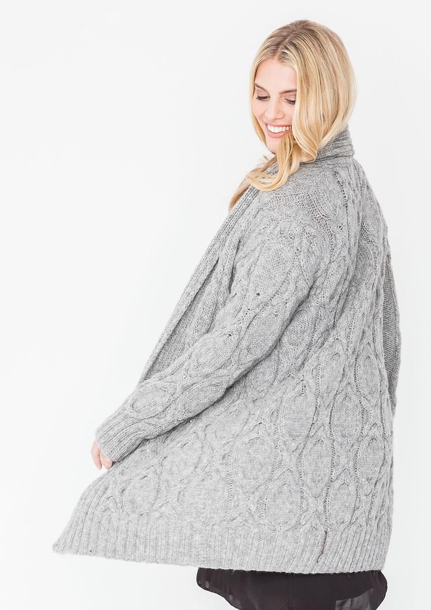 Lana Grossa LONGJACKE IM ZOPFMUSTER Alta Moda Alpaca