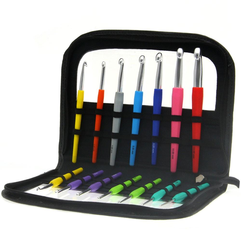 Lana Grossa Wollhäkelnadel-Set Design Color (mit Softgriff)