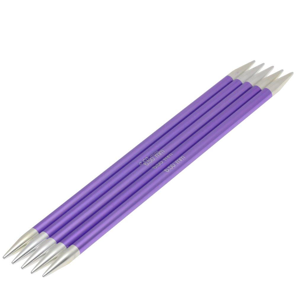 Lana Grossa Nadelspiel Aluminium Rainbow St. 6,5/20cm