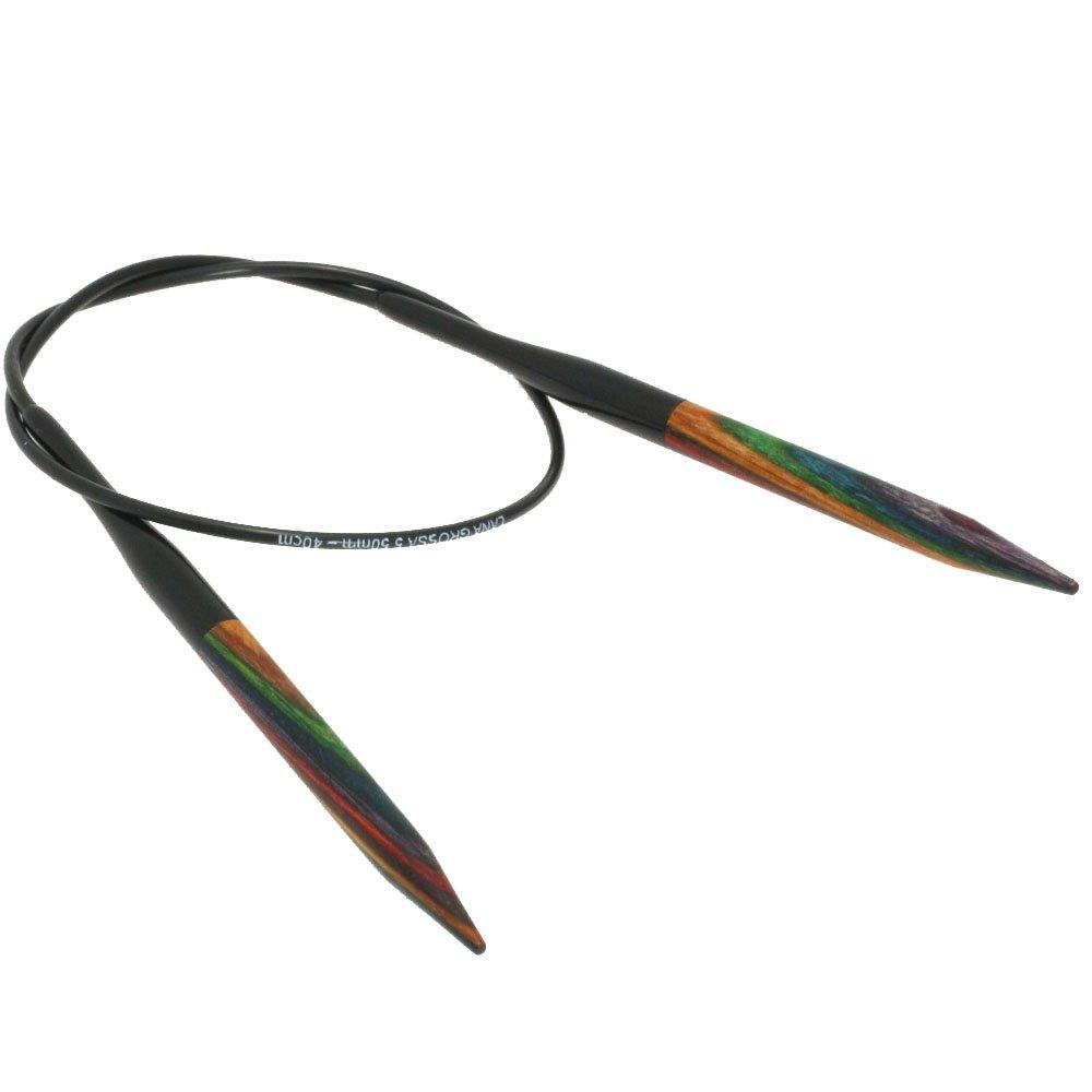 Lana Grossa Rundstricknadel Design-Holz Color St. 5,5/40cm