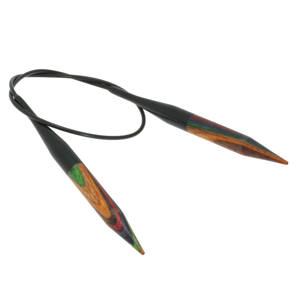 Lana Grossa Rundstricknadel Design-Holz Color St. 8,0/40cm