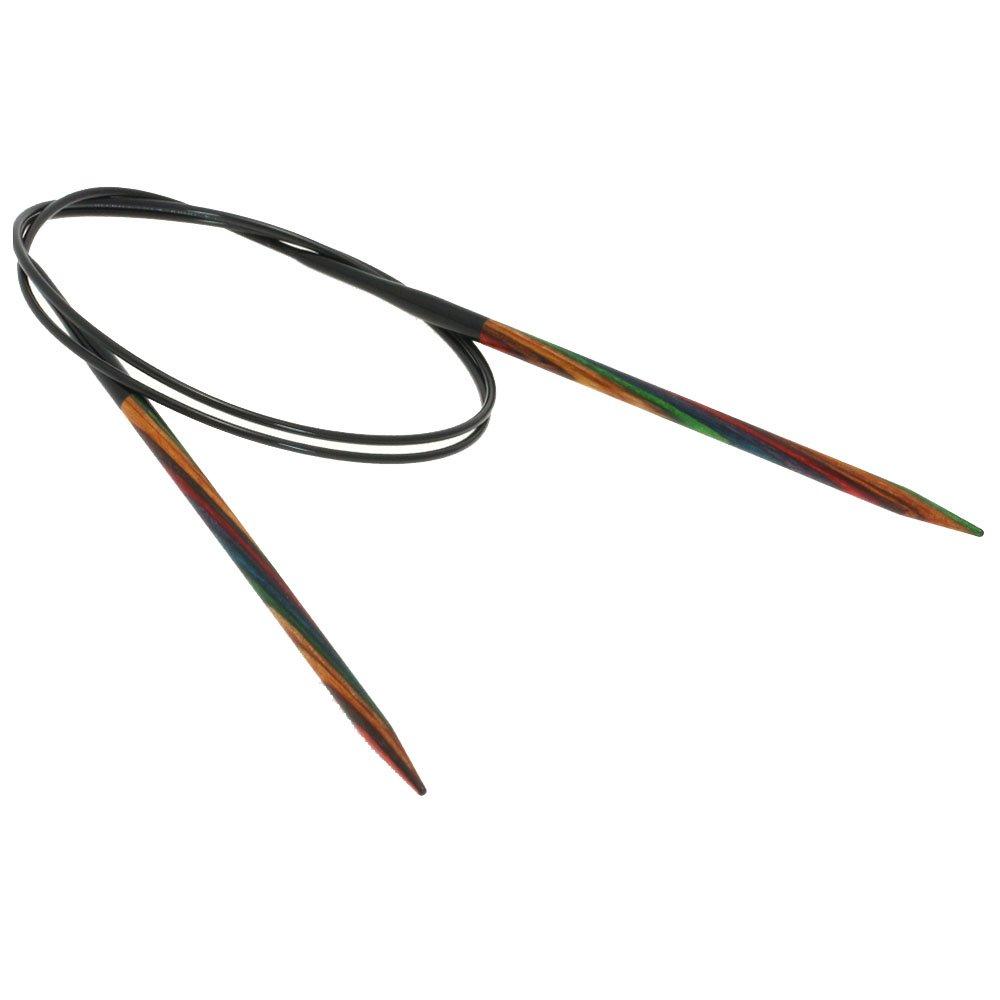 Lana Grossa Rundstricknadel Design-Holz Color St. 4,5/80cm
