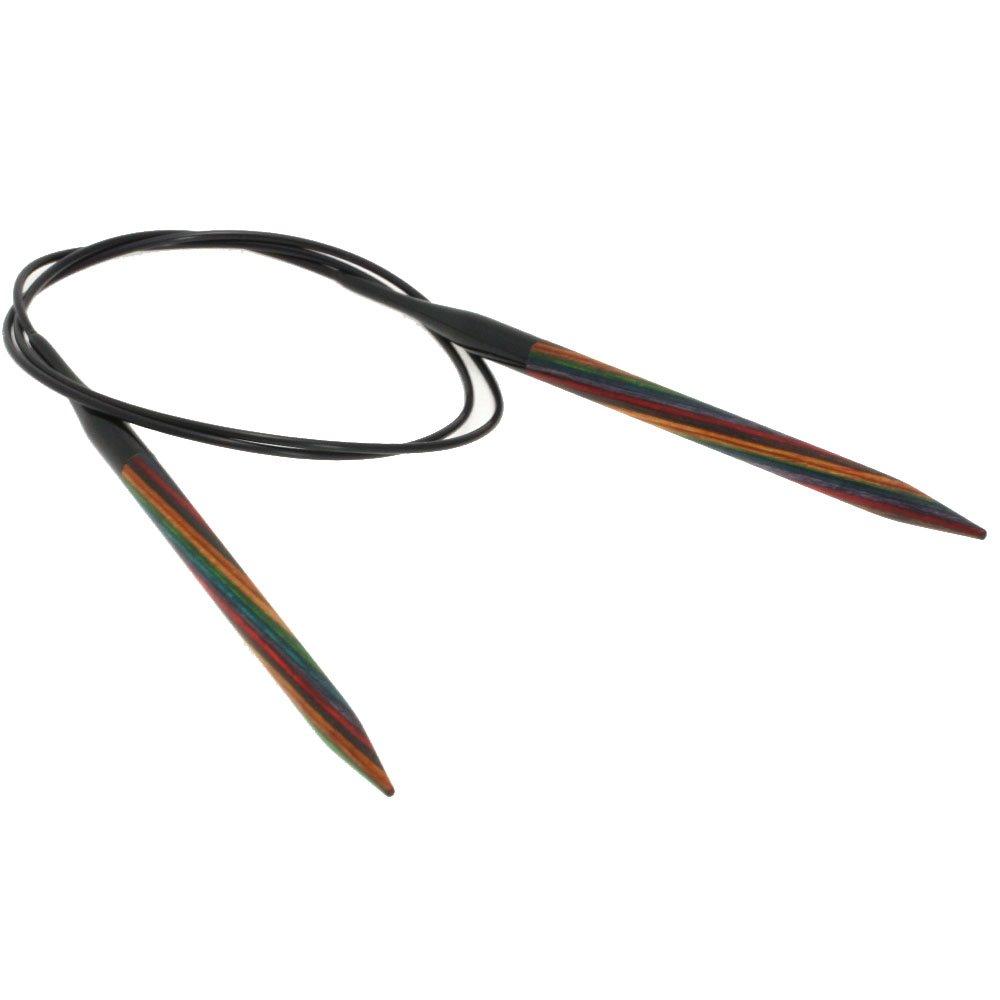 Lana Grossa Rundstricknadel Design-Holz Color St. 6,5/ 80cm